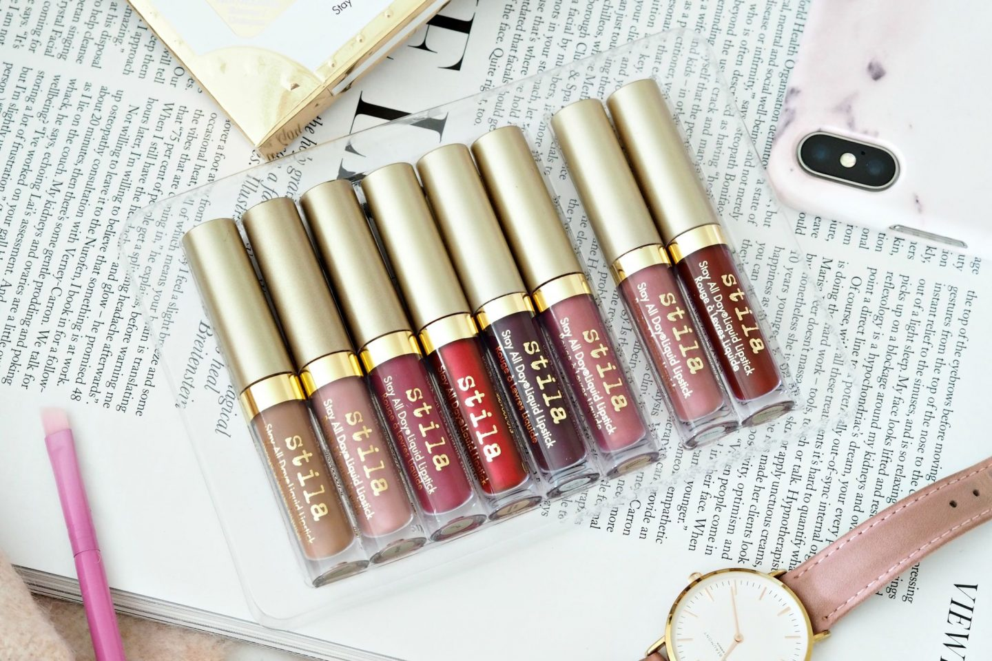 Stila Stay All Day Liquid Lipsticks Review and swatches