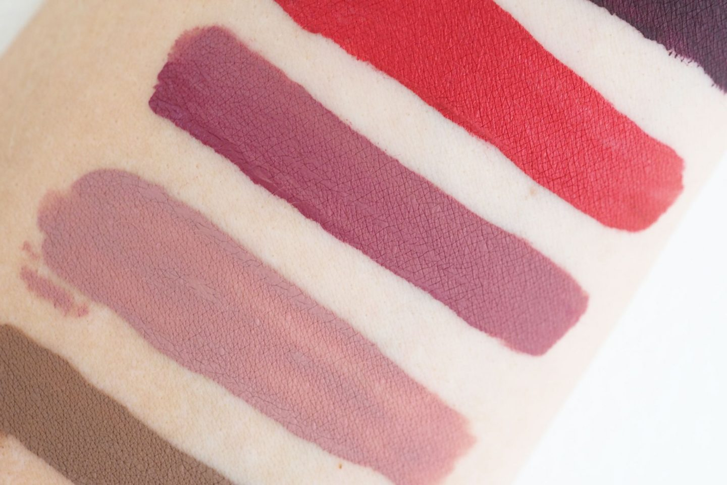 Stila Stay All Day Liquid Lipstick swatches