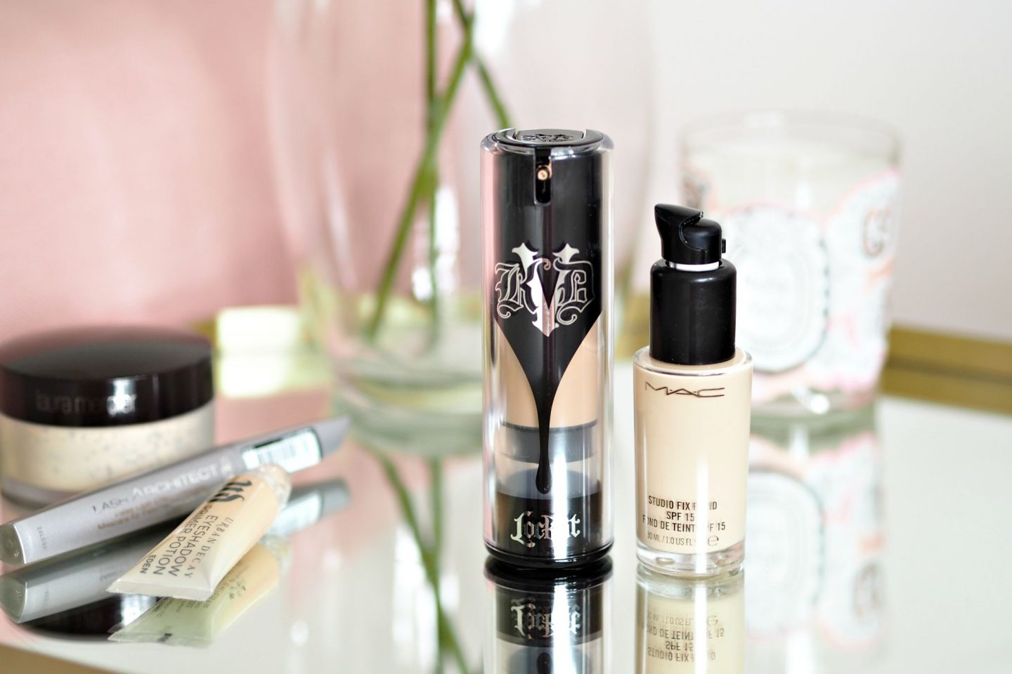 MAC Studio Fix Foundation & Kat Von D Lock It Foundation