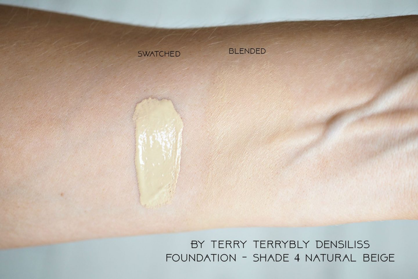 By Terry Terrybly Densiliss foundation shade 4 natural beige swatch