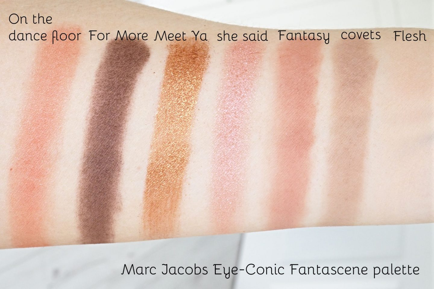Marc Jacobs Fantascene Palette swatches