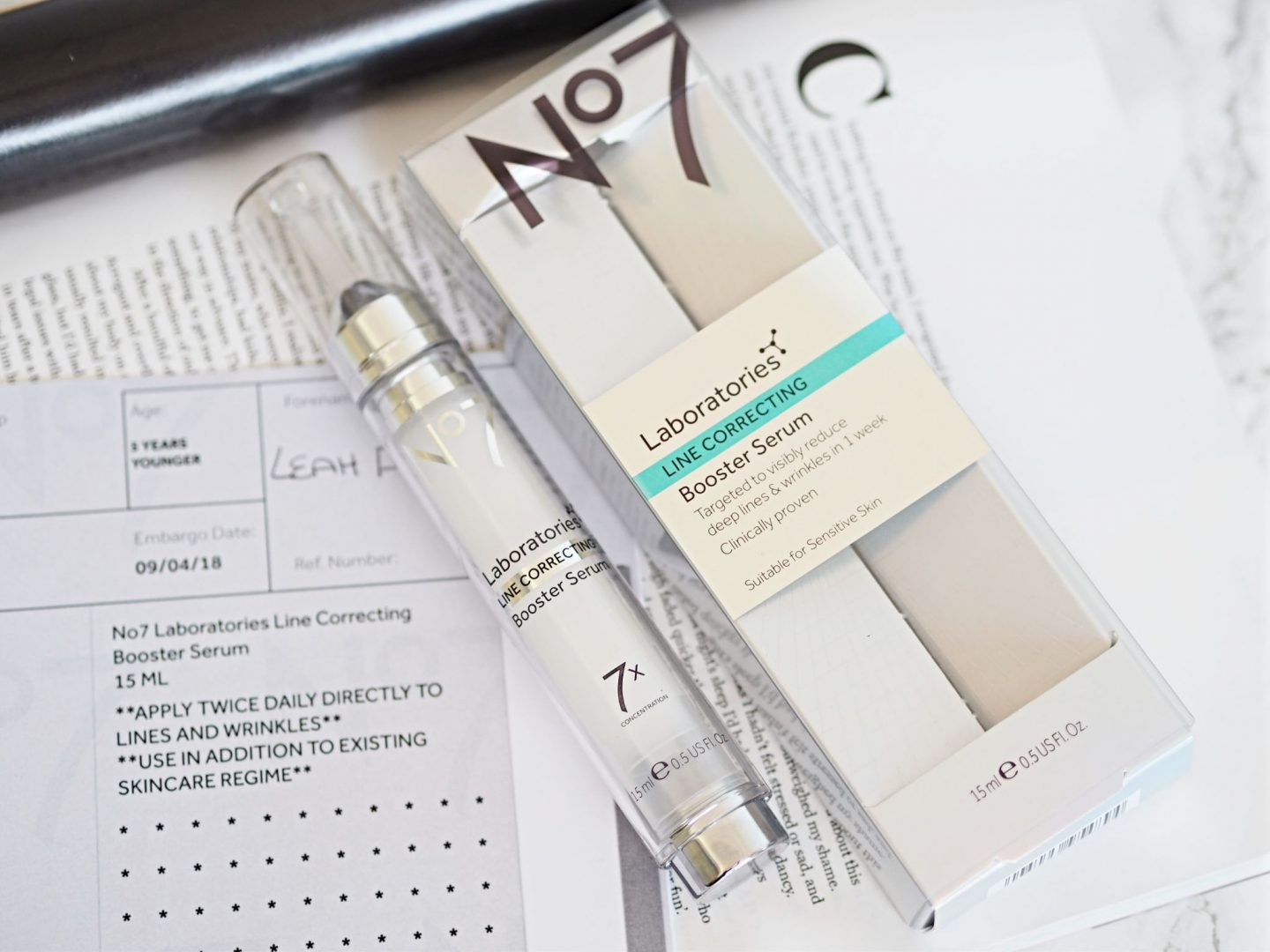 No7 Line Correcting Booster Serum Review