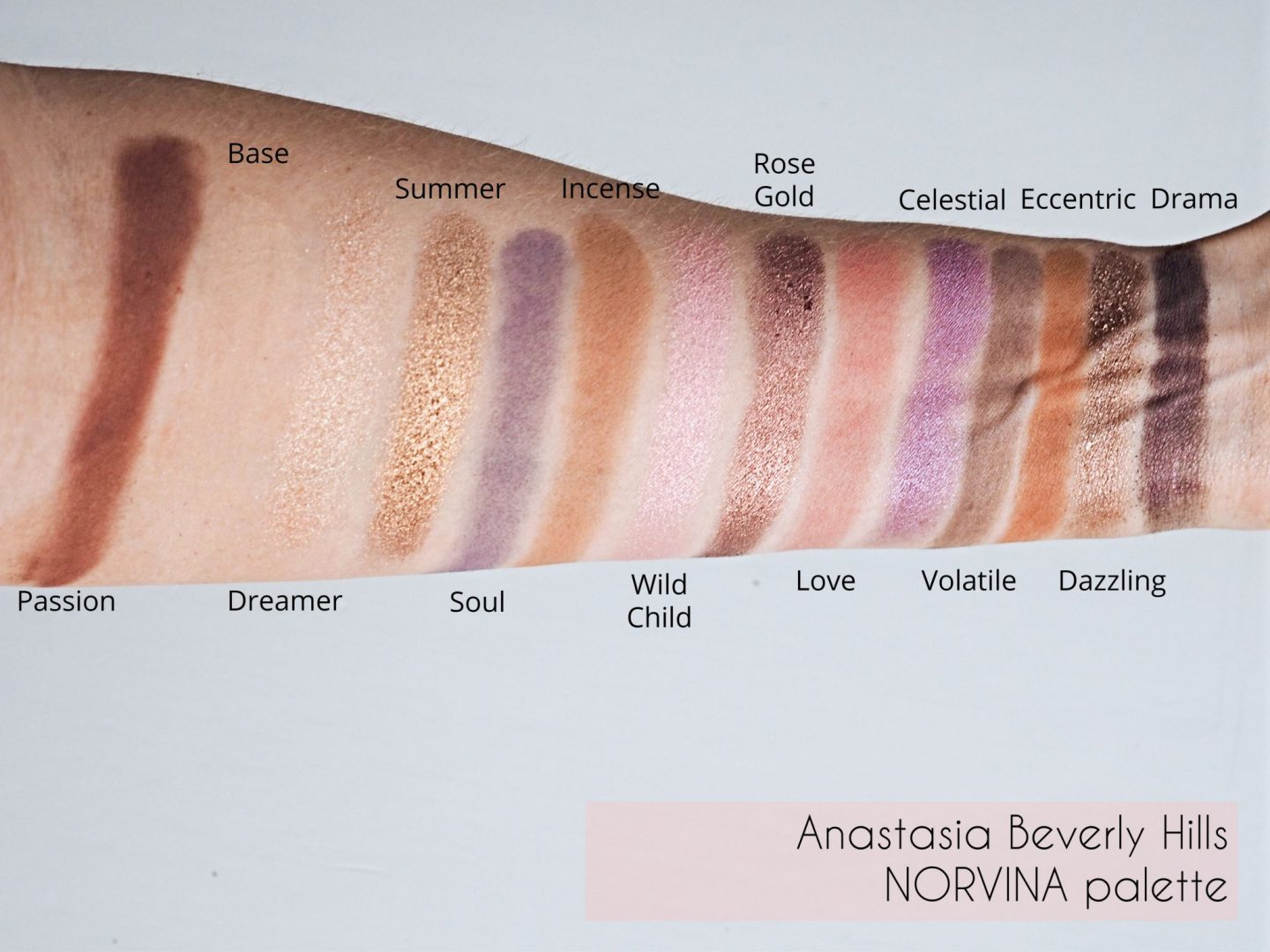Anastasia Beverly Hills Norvina Palette swatches