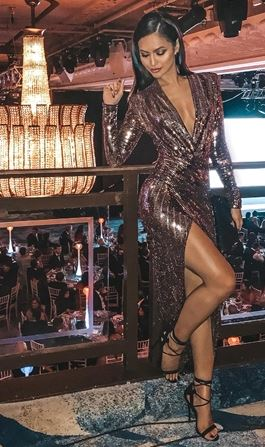 Rose gold sparkly dress