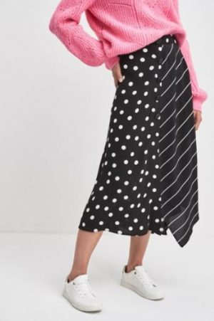 BLACK SPOT STRIPE SKIRT