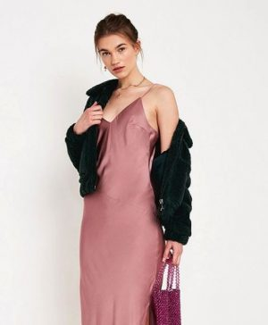 pinky lilac slip dress