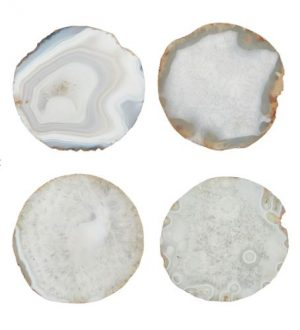 Agate Coasters (grey/ blue & gold)