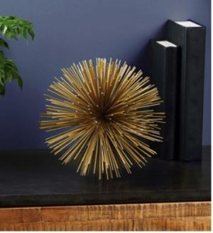 Gold decorative sculpture