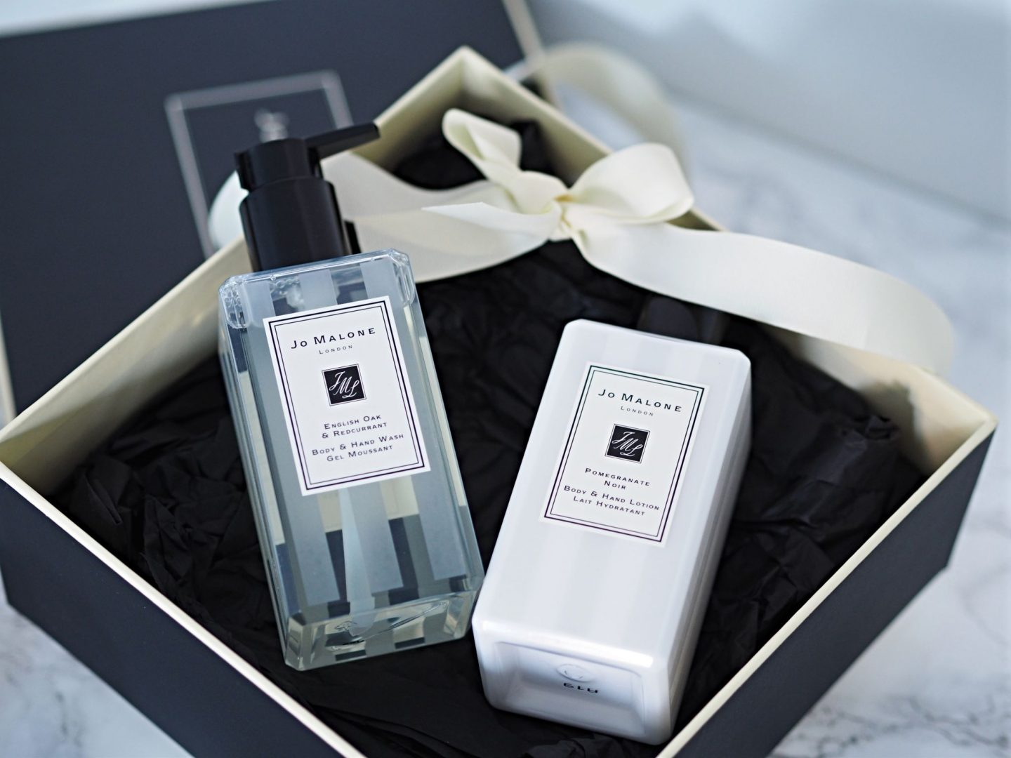Jo Malone Pomegranate Noir Body/ Hand Lotion and English Oak & Redcurrant Body/ Hand Wash
