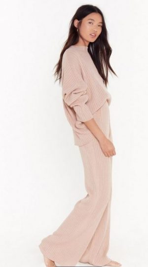 Take Knit Off Jumper and Trousers Lounge Set