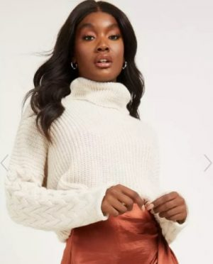 Stone roll neck jumper