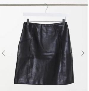 """Tall"" faux leather mini skirt"
